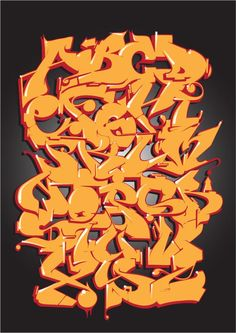 Street Alphabet Competition: vote for marcellosmurf's entry! Graffiti Alphabet Styles, Graffiti Lettering Alphabet, Graffiti Writing, Tattoo Lettering Fonts, Graffiti Font, Graffiti Designs, Graffiti Tagging, Graffiti Styles, Street Art Graffiti