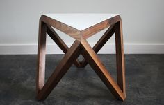 Tre Table Perforated by Petrified design