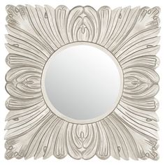 Anchor your entryway console or add a classic touch to your powder room with this elegant wall mirror, showcasing an acanthus leaf-inspired frame and pewter ...
