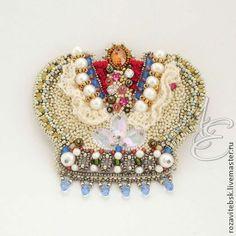 """Брошь """"Корона принцессы"""" - Модное украшение,модный аксессуар,брошь ручной работы"""