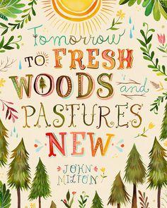 Fresh Woods     vertical print por thewheatfield en Etsy, $18.00