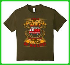 Kids Firefighter Shirts - I Am A Firefighter Wife T shirt 8 Olive - Careers professions shirts (*Amazon Partner-Link)