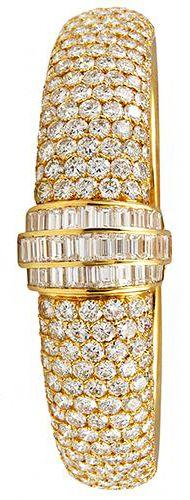 Jewelry: Vintage Van Cleef & Arpels Diamond Bangle | ca 1980's