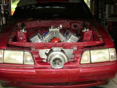 turbos are coolest when you have to cut parts of the car away to fit them