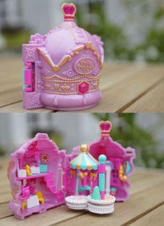 Polly Pocket - 1996 Crown Palace aka Crown Castle Playset - Princess Treasures