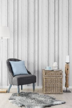 'Trollskogen' (340-01). One of the wallpapers from the Duro collection 'Aveny' inspired by the scandinavian woods.