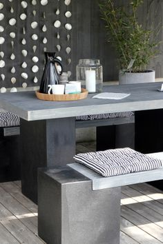 concrete outdoor dining table and bench google search cvi