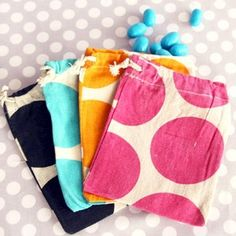 Drawstring bags for small toys
