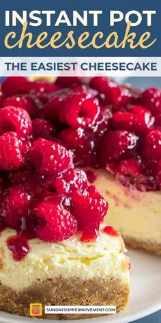 Instant Pot Cheesecake Recipe is SUPER easy and guarantees you a perfect result every time! Easily make perfect homemade cheesecake in your Instant Pot. Instant Pot Cheesecake Recipe, How To Make Cheesecake, Homemade Cheesecake, Cheesecake Recipes, Dessert Recipes, Healthy Cheesecake, Lime Cheesecake, Cheesecake Cookies, Instapot Cheesecake