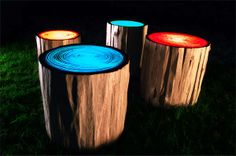 Illuminated Resin Tops - The Tree Rings by Judson Beaumont Belongs in a Funky Fairy World (GALLERY)