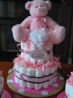 Monster Mama: Diaper Cake for Baby Shower