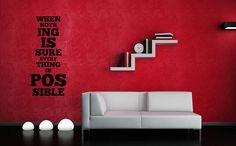 """Be your own hero...    Price : 22.00 EURO ( S&H if applicable)  ... HashTags : #brutalvisual #brutalvisualstudio #handmade #custom #etsy #customdesigns #brutal #vinyl #wall #decor #inspirational #MargaretDrabble #nothingissure #everythingpossible #quote #decal #sticker #mural #citation #gift  Margaret Drabble once said this """"When nothing is sure everything is possible!"""" and this still stands today! Dame Margaret Drabble Lady Holroyd DBE FRSL (born 5 June 1 ... (click on the link to read…"""
