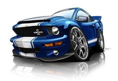 CARtoon - Car Caricature Art Gallery: Car caricatures drawn from your photo