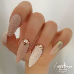 Nail Art Designs Images, Simple Nail Art Designs, Easy Nail Art, Pink Nail Designs, Nails Design, Bride Nails, Wedding Nails, Nail Art Weddings, Wedding Makeup