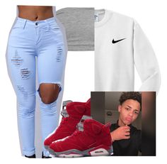 A fashion look from October 2016 featuring nike shirts and crop tops. Cute Tomboy Outfits, Cute Outfits With Shorts, Baddie Outfits Casual, Swag Outfits For Girls, Teen Girl Outfits, Dope Outfits, Teen Fashion Outfits, Retro Outfits, Latest Fashion Clothes
