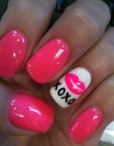 Valentines nails These are cute for the spa :)