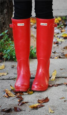 Red Hunter Rainboots