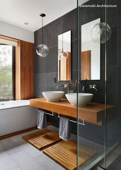 Dark grays look best with light or medium wood tones. If you choose a dark wood, the beauty of the gray and the wood might get lost. If you must use dark wood, choose a lighter shade of gray. And by the way, dark woods look fabulous with beige.