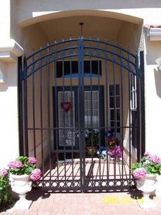 Amazing Yard Entry Gate Made From A Refurbished Front Door With Steel Free  Home Designs Photos