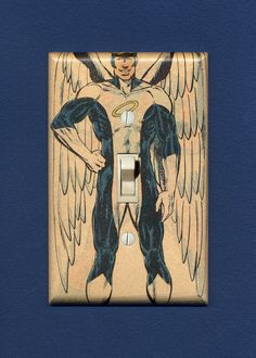 The X-Men's Angel. Quality-made vintage comic book  switch plate. $12.95