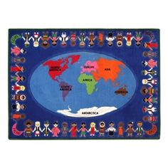 Friends Around the Globe Rug