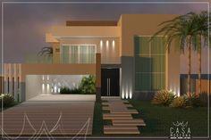 Projeto Arquitetônico e Interiores - R L: Casas modernas por Casa Moderna   Arquitetura . Interiores . Light Design
