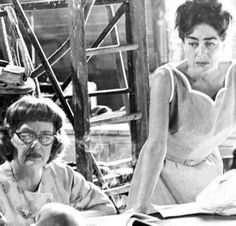 Bette Davis and Joan Crawford on the set of What Ever Happened to Baby Jane? (1962).