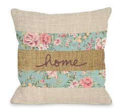 Burlap Throw Pillows, Cute Pillows, Sewing Pillows, Floral Throw Pillows, Outdoor Throw Pillows, Throw Pillow Covers, Decorative Pillows, Applique Pillows, Handmade Pillow Covers