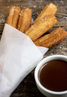Churros Con Chocolate - easy to make and so delicious!   Seasons and Suppers