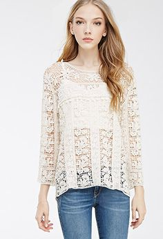 Floral Crochet Top | FOREVER21 - 2000053304