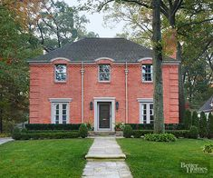 Pink Brick House Trim Color Ideas For The Home