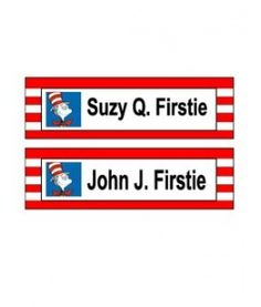 Set of 12 PRINTABLE Dr Seuss Name Tags by shydesign on Etsy, $5.00 ...