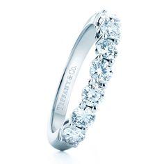 Tiffany & Co. platinum wedding ring with round diamonds