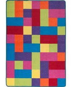 ColourMatch Kids' Extra Large Block Rug - 170x120cm - Multi.