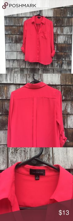 The Limited pink blouse Beautiful pink blouse from The Limited. Excellent condition, only worn once or twice. The Limited Tops Blouses