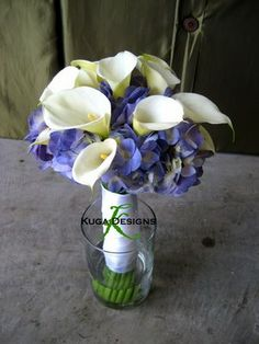 Bride bouquet blend - switch out calla lilies for the other flowers - CHECK!