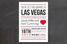 Vegas Type Wedding Invitations by Elaine Stephenson at minted.com ...not vegas, but i love the style