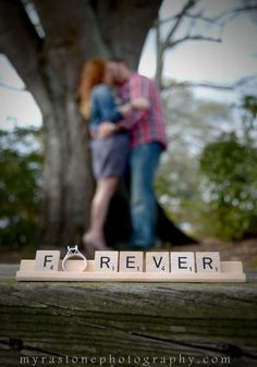 engagement session | scrabble letters | Myra Stone Photography