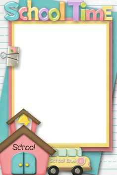 Back To School Picture Frames School Picture Frames, School Frame, Back To School Pictures, School Photos, School Border, Boarders And Frames, Kids Background, Paper Background, School Clipart