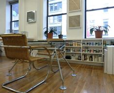 These Marcel Breuer rattan and metal chairs marry my dueling aesthetics. LOVE!