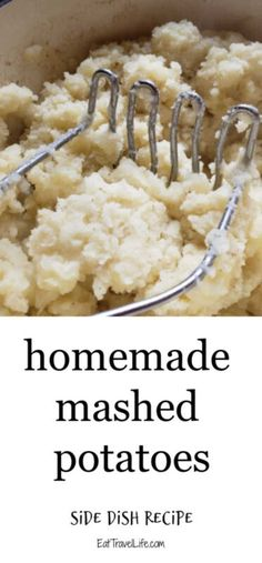 Homemade mashed potatoes are pretty simple to make. Perfect side dish for your favorite meal. See how you can make mashed potatoes here. Potato Side Dishes, Best Side Dishes, Side Dish Recipes, Homemade Mashed Potatoes Recipe, Making Mashed Potatoes, Cheesy Recipes, Potato Recipes, Stick Of Butter, Yummy Food