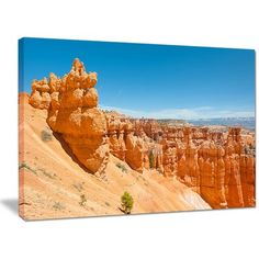"""DesignArt 'Beautiful Bryce Canyon' Photographic Print on Wrapped Canvas Size: 30"""" H x 40"""" W x 1"""" D"""