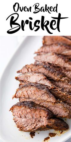 Make your Sunday supper a special dinner with a Oven Baked Beef Brisket recipe. … Make your Sunday supper a special dinner with a Oven Baked Beef Brisket recipe. This savory recipe makes for tender meat you can't resist! Oven Baked Brisket, Beef Brisket Recipes, Pork Recipes, Cooking Recipes, Cooking Brisket In Oven, Recipe For Brisket, Brisket On The Grill, Brisket In Roaster Oven, Oven Roasted Beef Brisket Recipe
