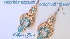 "Tutorial macramè orecchini ""Penelope""/ Tutorial macramè earrings ""Penelope""/ Diy tutorial - YouTube"