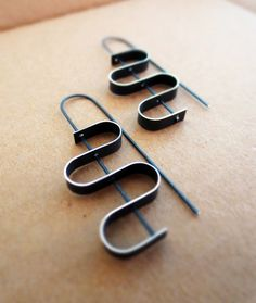 Coil Silver Earrings