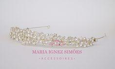 Tiara noiva delicada de mini navetes com banho de prata.  Tiara noiva Curitiba - Noiva - Casamento - Tiara noiva - Enfeite cabelo - Curitiba
