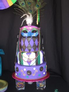 masqurade mardi gras sweet 16 By petticakes3 on CakeCentral.com