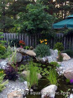 81 Awesome Backyard Water Garden Design - Home Decor For Fun Outdoor Water Features, Water Features In The Garden, Backyard Water Feature, Ponds Backyard, Koi Ponds, Pond Landscaping, Landscaping With Rocks, Pond Design, Garden Design