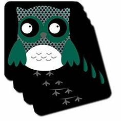 "Cute Deep Blue and Green Polka Dots Owl - Set Of 4 Coasters - Soft by 3dRose LLC. $11.99. Made of recycled rubber. Comes in a set of 4 - same image on all coasters. Absorbs moisture. Dimensions: 3 1/2"" H x 3 1/2"" W x 1/4"" D. Washable - to prevent image from fading clean with mild detergent using cool water. Cute Deep Blue and Green Polka Dots Owl Coaster is a great complement to any home décor. Soft coasters are 3.5"" x 3.5"", are absorbent, and can be washed. ..."