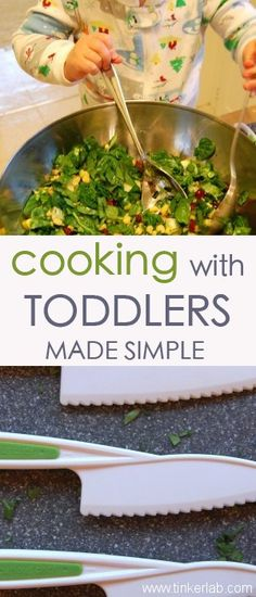 Would you give your toddler a knife? Four useful tips for cooking with toddlers, including knife safety, from Tinkerlab.com #cooking #toddlers #kids
